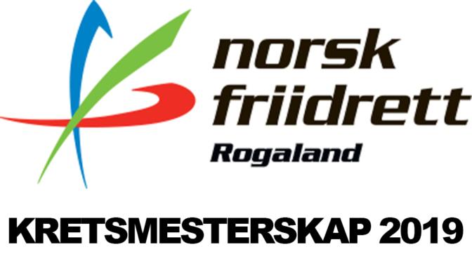 KM i FRIIDRETT – ROGALAND – 2019