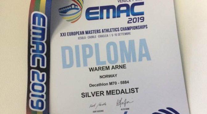 EM Sølv til Arne Warem