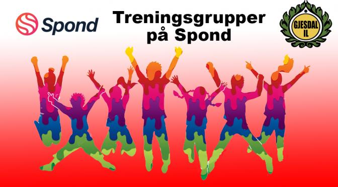 Følg treningsgruppen på Spond